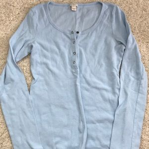 j. crew button up henley long sleeve